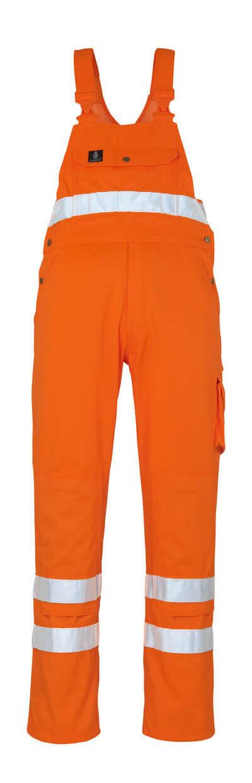 00469-860-14 Amerikaanse overall met kniezakken - hi-vis oranje