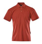 00783-260-02 Poloshirt met borstzak - rood