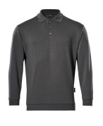 00785-280-18 Polosweatshirt - donkerantraciet