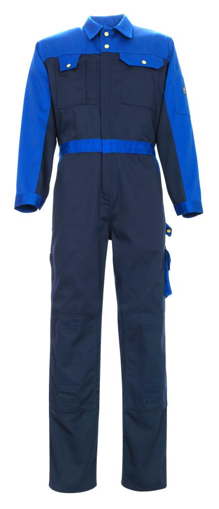 00919-430-111 Overall met kniezakken - marine/korenblauw