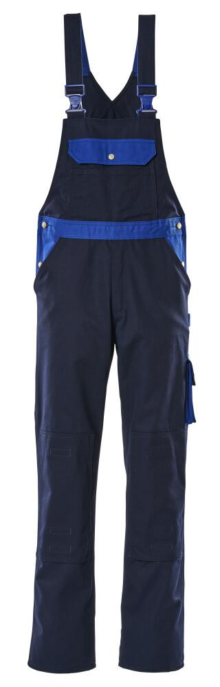 00962-630-111 Amerikaanse overall met kniezakken - marine/korenblauw