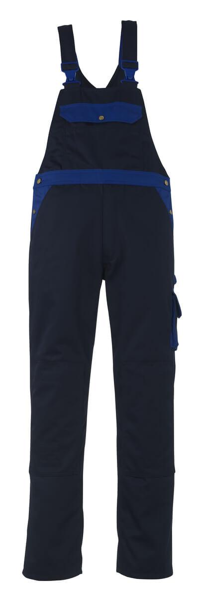 00969-430-111 Amerikaanse overall met kniezakken - marine/korenblauw