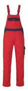 00969-430-21 Amerikaanse overall met kniezakken - rood/marine