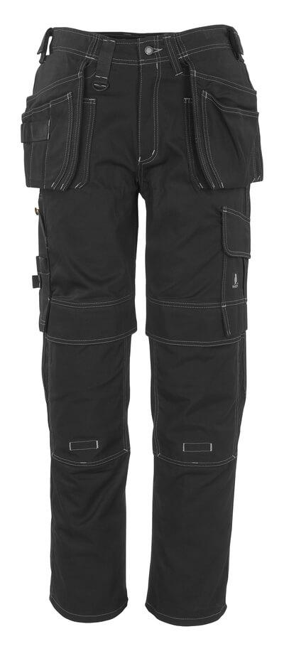 06131-630-09 Broek met knie- en spijkerzakken - zwart