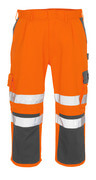 07149-860-14888 Driekwart broek met kniezakken - hi-vis oranje/antraciet