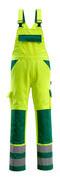 07169-470-1703 Amerikaanse overall met kniezakken - hi-vis geel/groen