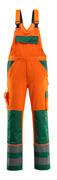 07169-860-1403 Amerikaanse overall met kniezakken - hi-vis oranje/groen