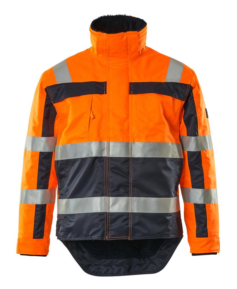 07223-880-141 Winterjack - hi-vis oranje/marine