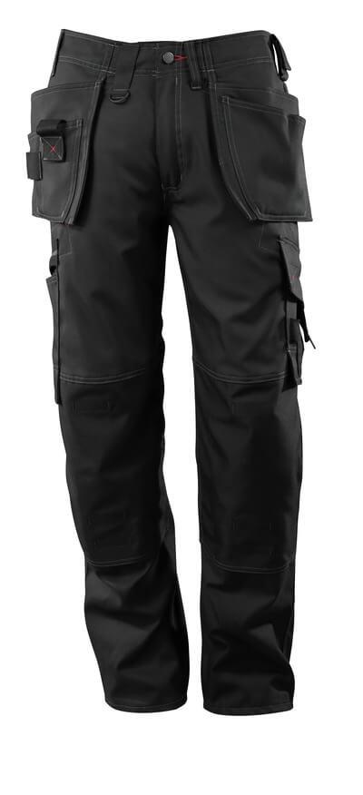 07379-154-09 Broek met knie- en spijkerzakken - zwart