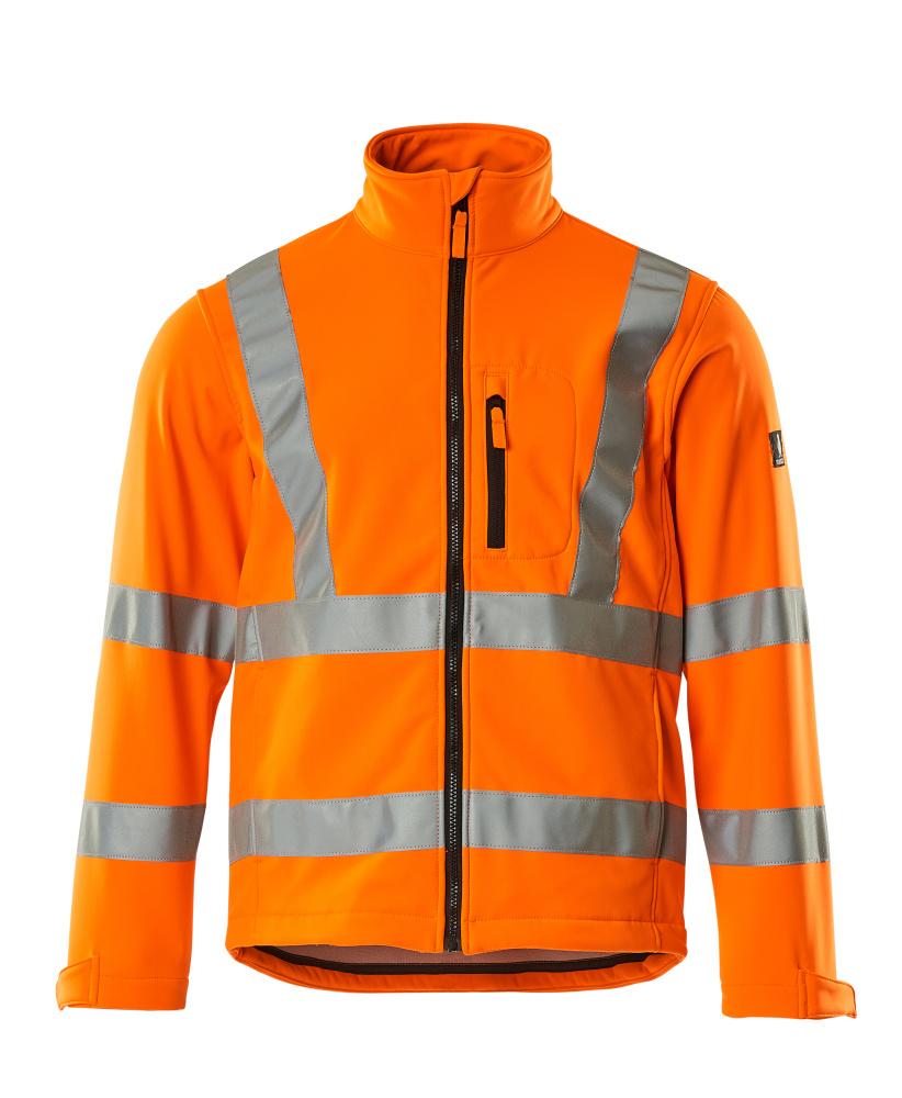 08005-159-14 Softshell jack - hi-vis oranje