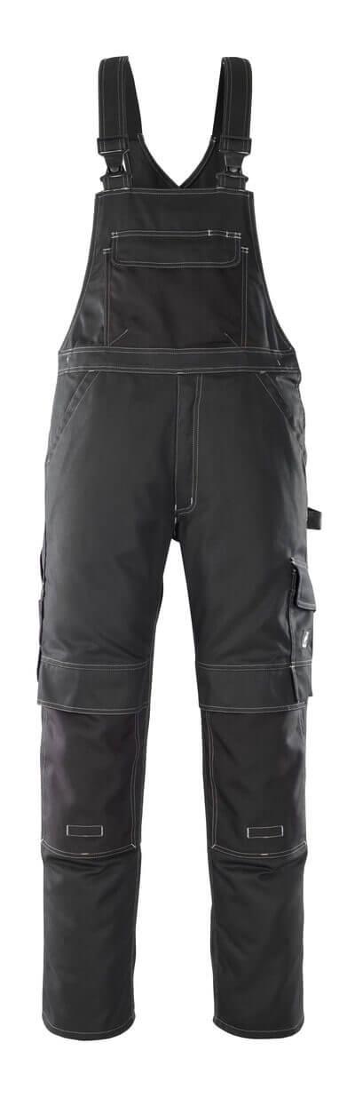 08269-010-09 Amerikaanse overall met kniezakken - zwart