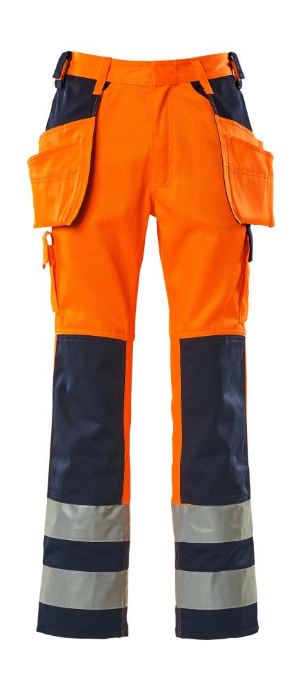 09131-860-141 Broek met spijkerzakken - hi-vis oranje/marine