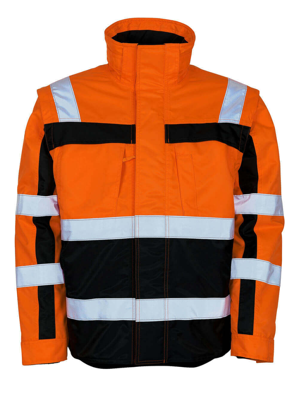 09335-880-141 Winterjas - hi-vis oranje/marine
