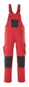 12069-203-0209 Amerikaanse overall met kniezakken - rood/zwart