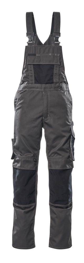 12169-442-1809 Amerikaanse overall met kniezakken - donkerantraciet/zwart