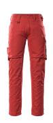 12579-442-0209 Broek met dijbeenzakken - rood/zwart