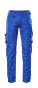 12579-442-11010 Broek met dijbeenzakken - korenblauw/donkermarine