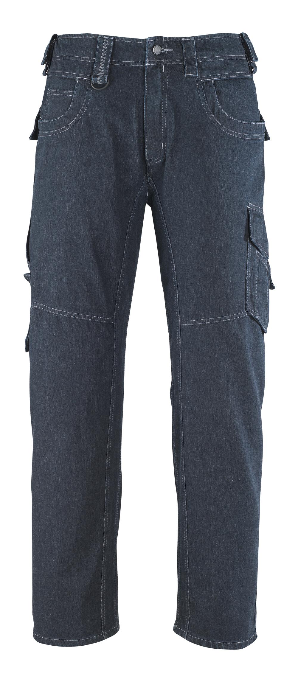 13379-207-B52 Jeans met dijbeenzakken - denimblauw