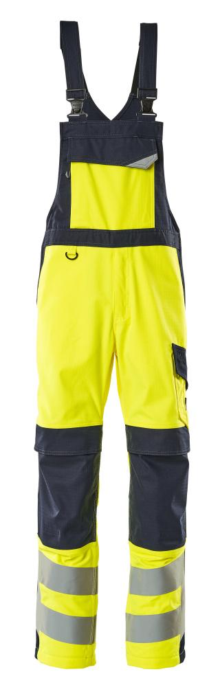 13869-216-17010 Amerikaanse overall met kniezakken - hi-vis geel/donkermarine