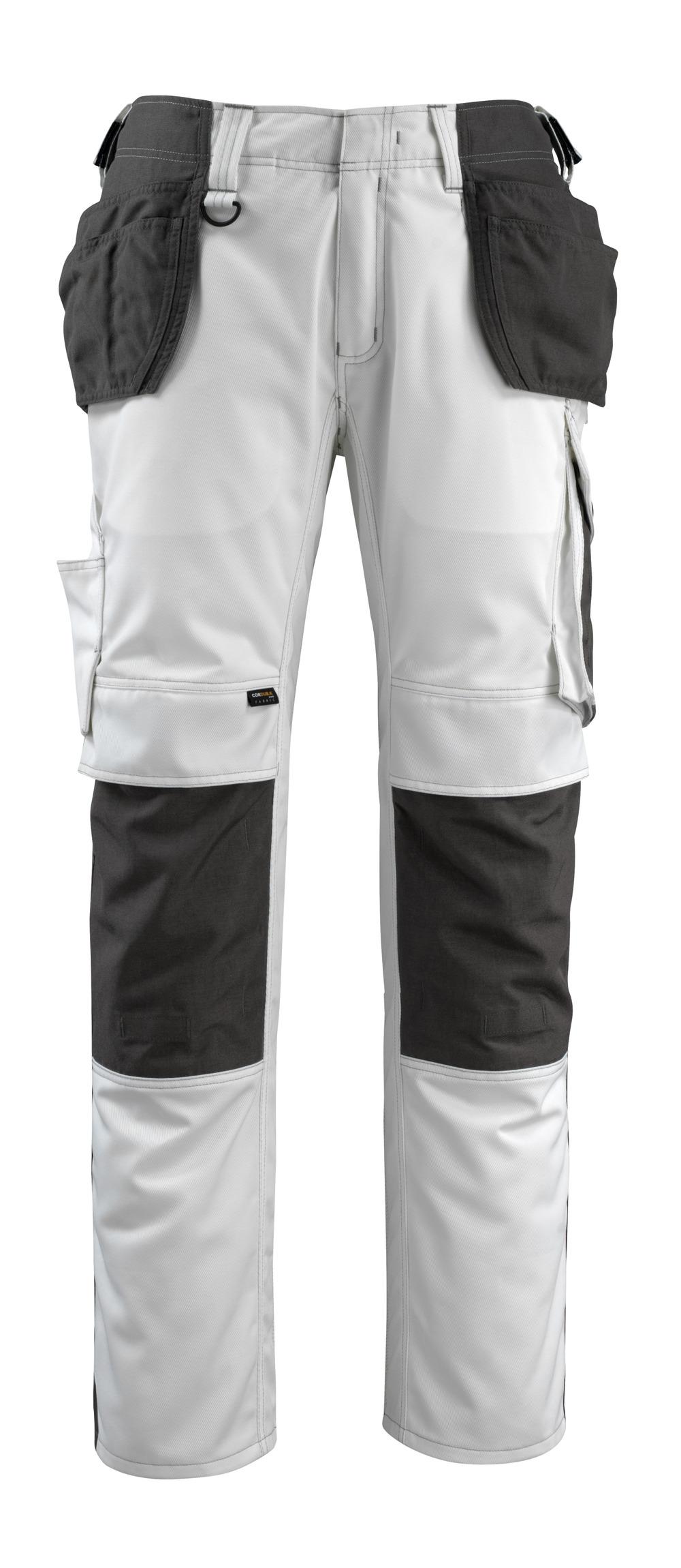 14031-203-0618 Broek met knie- en spijkerzakken - wit/donkerantraciet