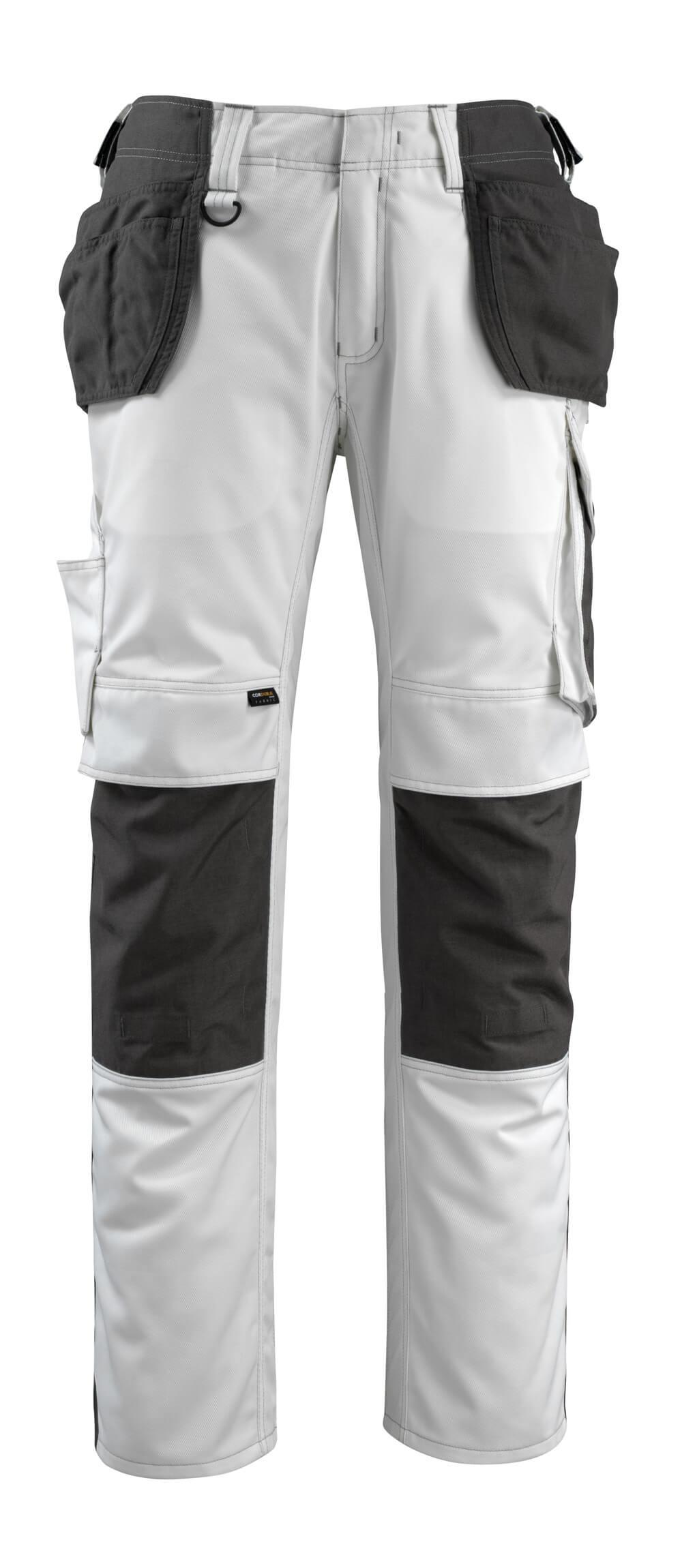 14031-203-0618 Broek met spijkerzakken - wit/donkerantraciet
