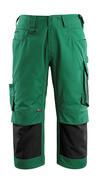 14149-442-0309 Driekwart broek met kniezakken - groen/zwart