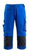 14149-442-11010 Driekwart broek met kniezakken - korenblauw/donkermarine