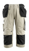 14349-442-0618 Driekwart broek met spijkerzakken - wit/donkerantraciet