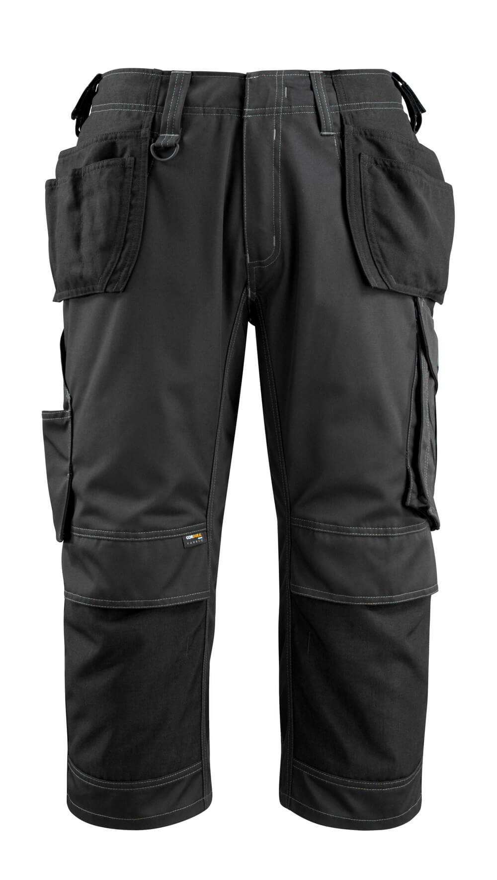 14449-442-09 Driekwart broek met spijkerzakken - zwart