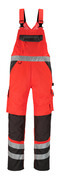 14969-860-A49 Amerikaanse overall met kniezakken - hi-vis rood/donkerantraciet