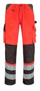 14979-860-A49 Broek met kniezakken - hi-vis rood/donkerantraciet