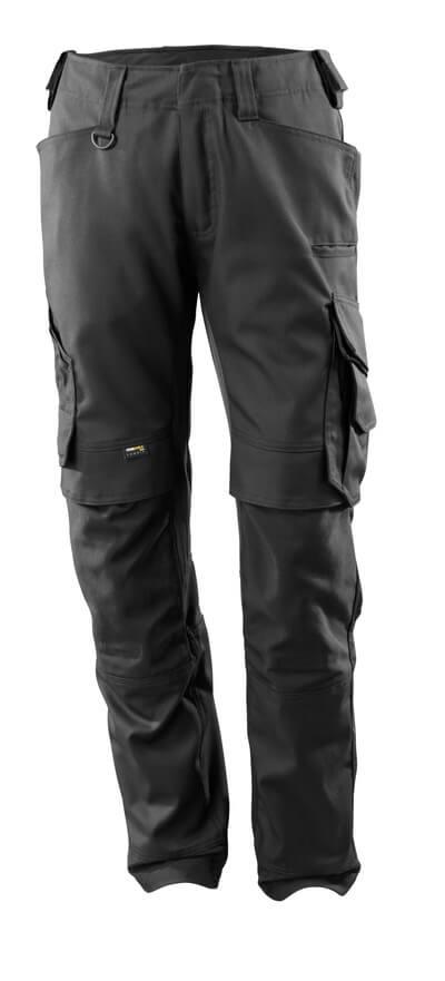 15079-010-09 Broek met kniezakken - zwart