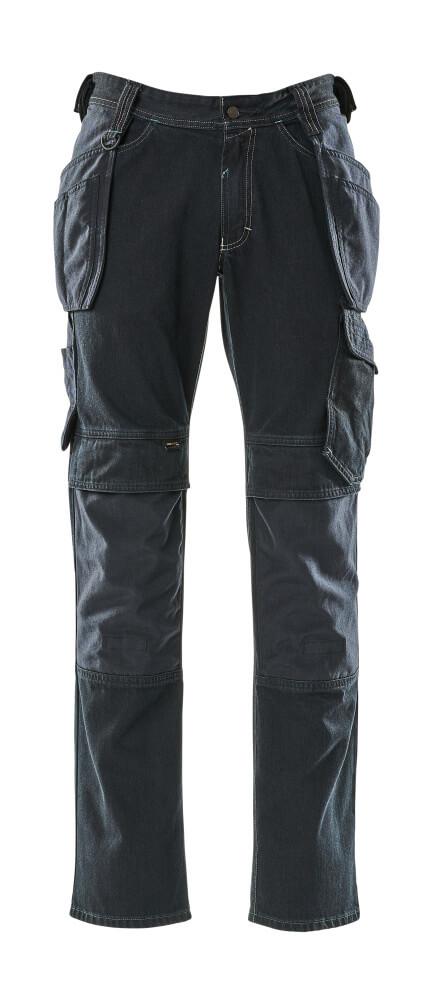 15131-207-86 Jeans met spijkerzakken - donkerblauw denim