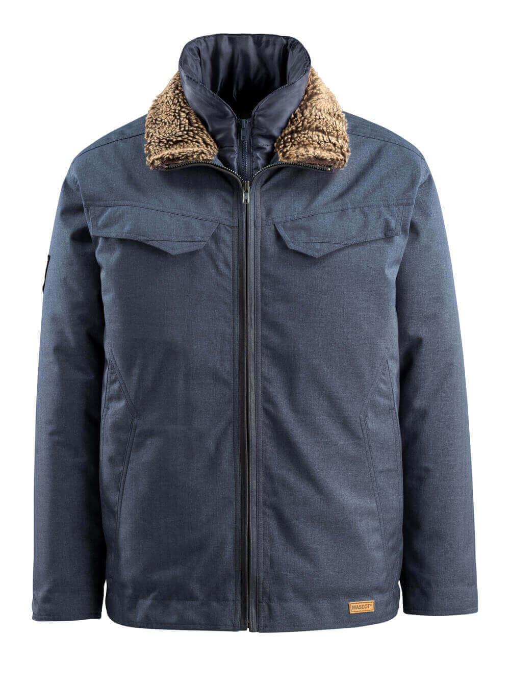 15435-275-46 Winterjas - indigo denimblauw