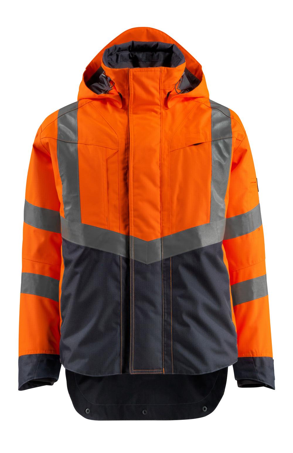 15501-231-14010 Shelljack - hi-vis oranje/donkermarine