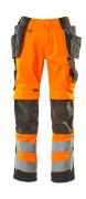 15531-860-1418 Broek met knie- en spijkerzakken - hi-vis oranje/donkerantraciet