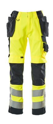 15531-860-14010 Broek met knie- en spijkerzakken - hi-vis oranje/donkermarine