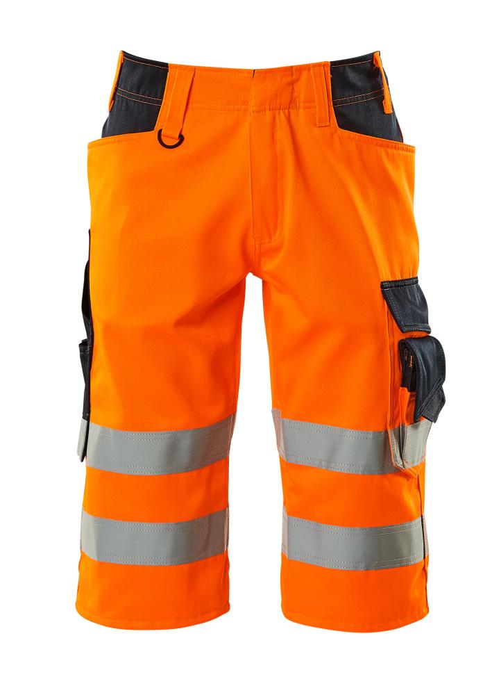 15549-860-14010 Shorts, lange - hi-vis oranje/donkermarine