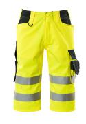 15549-860-17010 Shorts, lange - hi-vis geel/donkermarine