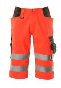 15549-860-22218 Shorts, lange - hi-vis rood/donkerantraciet