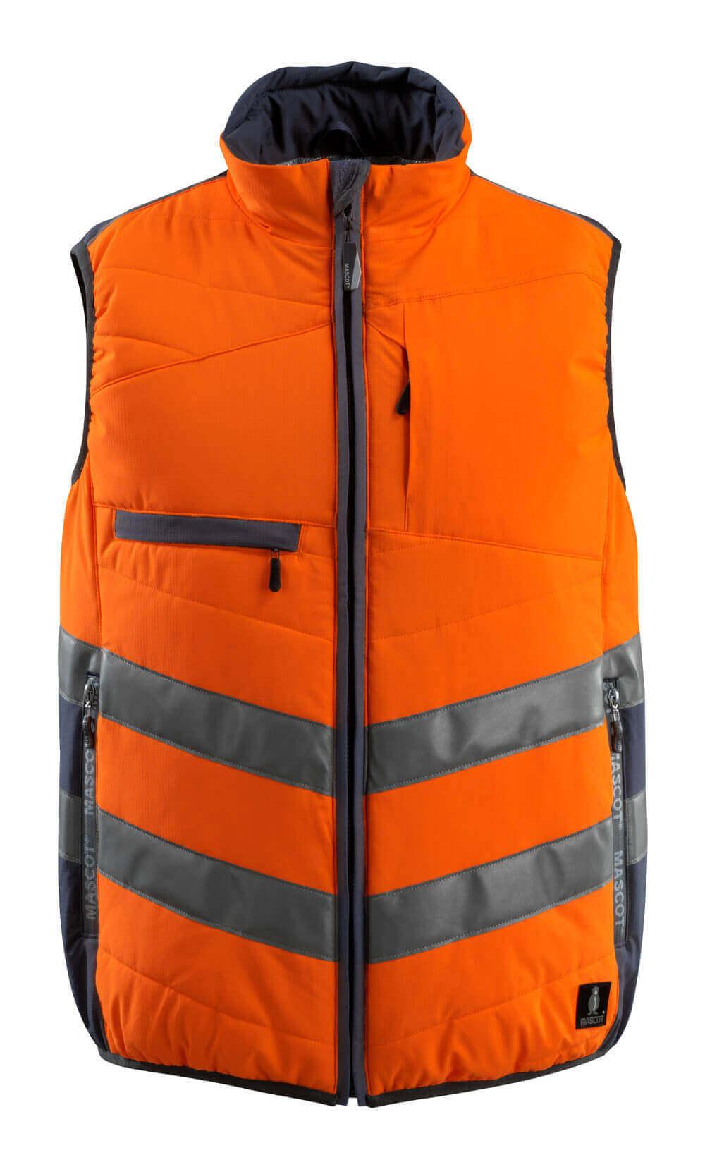15565-249-14010 Wintervest - hi-vis oranje/donkermarine