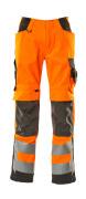15579-860-1418 Broek met kniezakken - hi-vis oranje/donkerantraciet