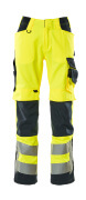 15579-860-14010 Broek met kniezakken - hi-vis oranje/donkermarine