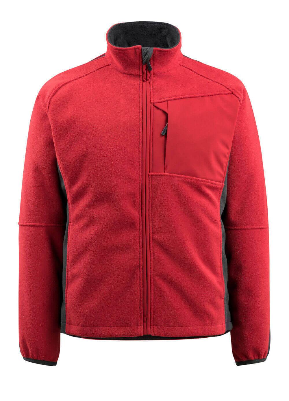 15603-259-0209 Fleece jas - rood/zwart