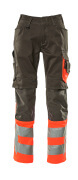 15679-860-01014 Broek met kniezakken - donkermarine/hi-vis oranje