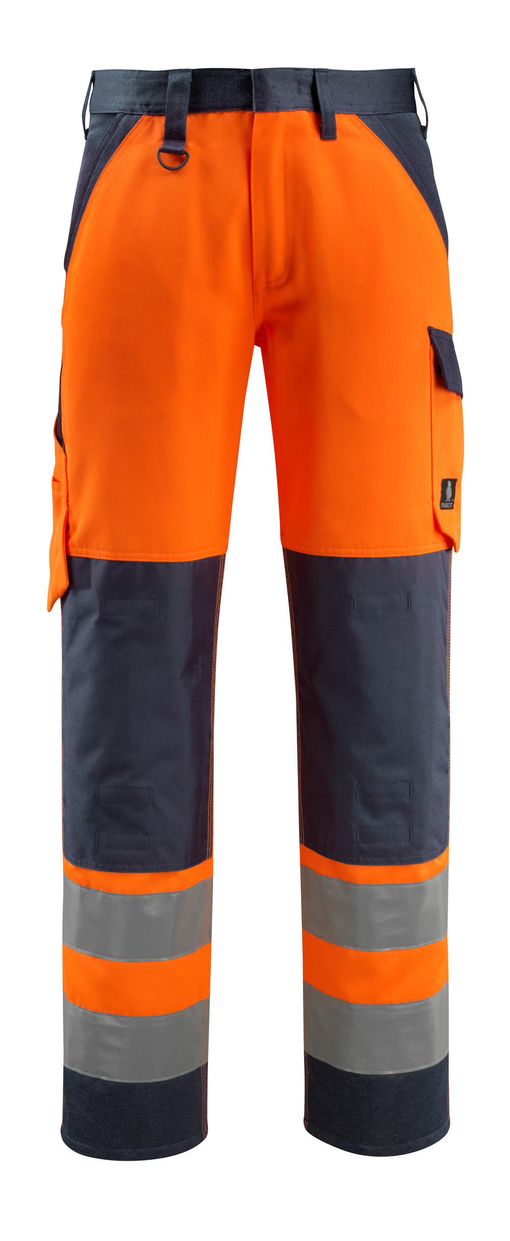 15979-948-14010 Broek met kniezakken - hi-vis oranje/donkermarine