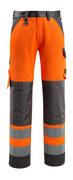 15979-948-1418 Broek met kniezakken - hi-vis oranje/donkerantraciet