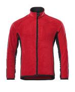 16003-302-0209 Fleecejack - rood/zwart