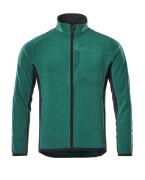 16003-302-0309 Fleecejack - groen/zwart