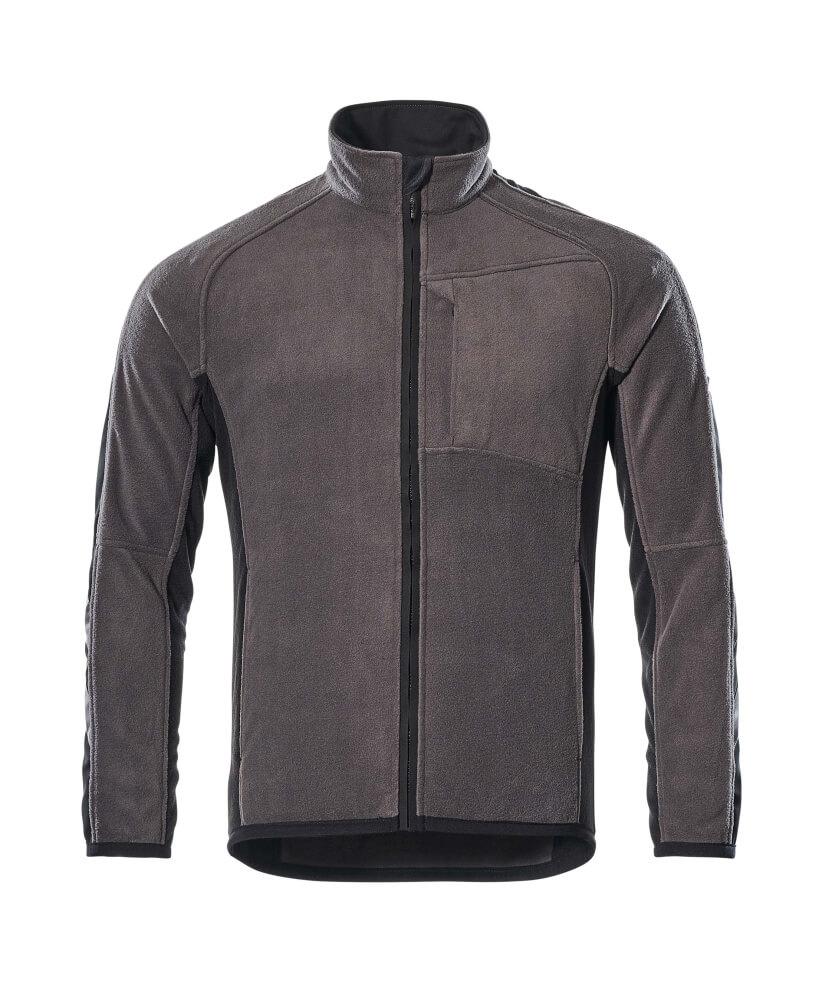 16003-302-1809 Fleece jas - donkerantraciet/zwart